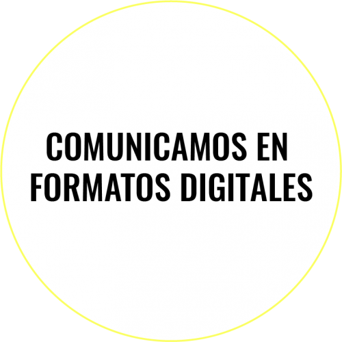 Comunicamos en formatos digitales.